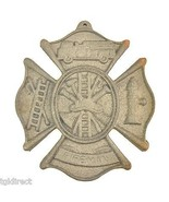 "Cast Iron Firefighting Wall Plaque Sign 7.75"" Wide Fireman Fire Rescue Grey - $11.99"