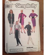 Simplicity 9278 Misses Sewing Pattern Jacket Dress Tunic Top Skirt Pant ... - $7.00