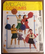 McCalls 2849 Girls's Cheerleader Costume Sewing Pattern X-Small Size 3-4 - $5.00