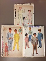 Vintage Boys Pajama Robe Suit Sewing Patterns - Simplicity Butterick - $7.50