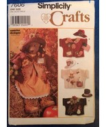 Simplicity 7606 Bear Sewing Pattern With Outfits Uncut by Jana Beus Tedd... - $9.99