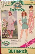 Butterick 3717 Cabbage Patch Kids Girls Jumper Jumpsuit Size 12-14 - $5.50