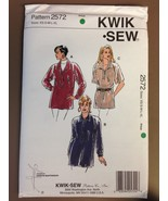 Kwik Sew 2572 Misses Tunic Sewing Pattern All Sizes NIP Sealed FF Long L... - $24.99
