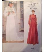 Vogue Sewing Pattern 1924 Wedding Dress Bridal Designs Size 10 1970's - $24.99