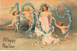 New Years 1909 Paul Finkenrath of Berlin Vintage Post Card - $6.00
