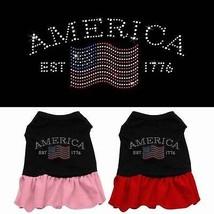 CLASSIC AMERICA Rhinestone Pet Dog Dress * Jeweled USA American Flag Pup... - $14.99