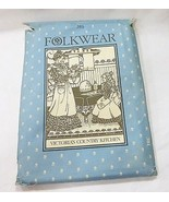 Folkwear victoria's country kitchen pattern 301 uncut 1982 vintage - $17.81