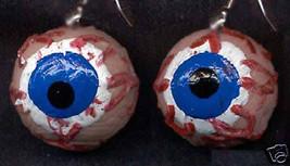 Funky Gross EYEBALL EYES EARRINGS Weird Zombie Body Parts Horror Costume... - $10.99