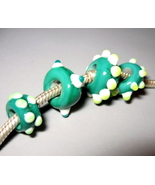 Handmade Italian Glass Green White Yellow Lampw... - $4.00