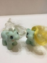 Vintage 2 My Little Pony Baby Tangles Twin To Jangles Newborn 1987 Hong Kong - $14.01