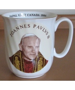 Pope John Paul II Coffee Mug 1984 Canada Papal Visit Duchess Bone China ... - $14.93