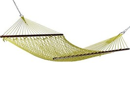 Caribbean Rope Hammock - 55 Inch - Soft-Spun Polyester Olive - $99.31