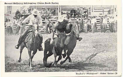 Primary image for H McCrorey Bulldogging and Clint Booth Hazing Post Card