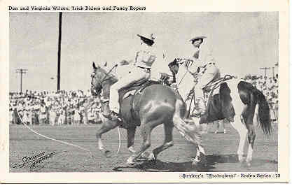 Primary image for Don and Virginia Wilcox Trick Riders Stryker Post Card