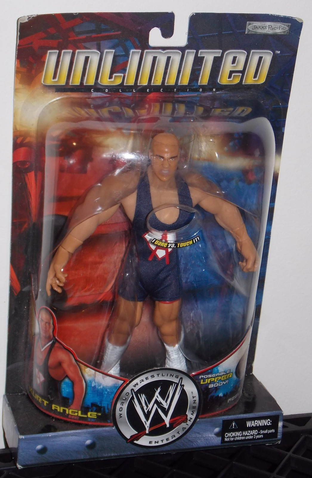 Primary image for 2002 WWE Unlimited Kurt Angle 8 inch Wrestling Action Figure New In The Package