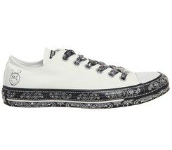 Women's Converse X Miley Cyrus CTAS ALL STAR OX, 162235C Multi Sizes White/Black - $79.95