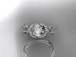 Leafring146 white gold  platinum  diamond wedding ring  diamond engagement ring  forever brilliant moissanite  4 marked thumb200