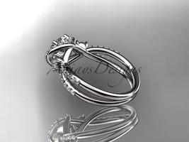 Leafring146 white gold  platinum  diamond wedding ring  diamond engagement ring  forever brilliant moissanite  5 marked thumb200