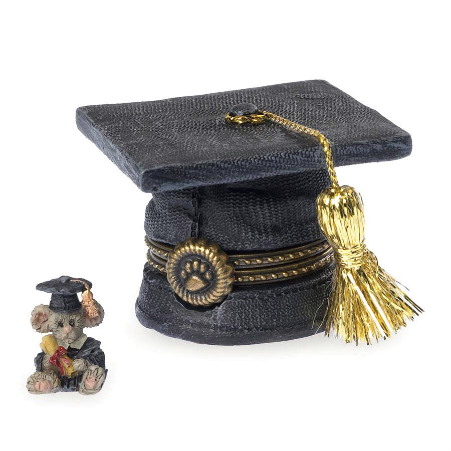 "Boyds Treasure Box ""Scholar's Cap w/Einstein McNibble"" #4040532-1E -NIB- 2013 - $21.99"