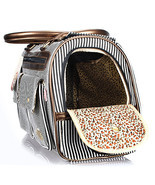 New Fashion Stripe Puppy Dog Cat Pet Carrier Tote Bag Handbag - $43.97