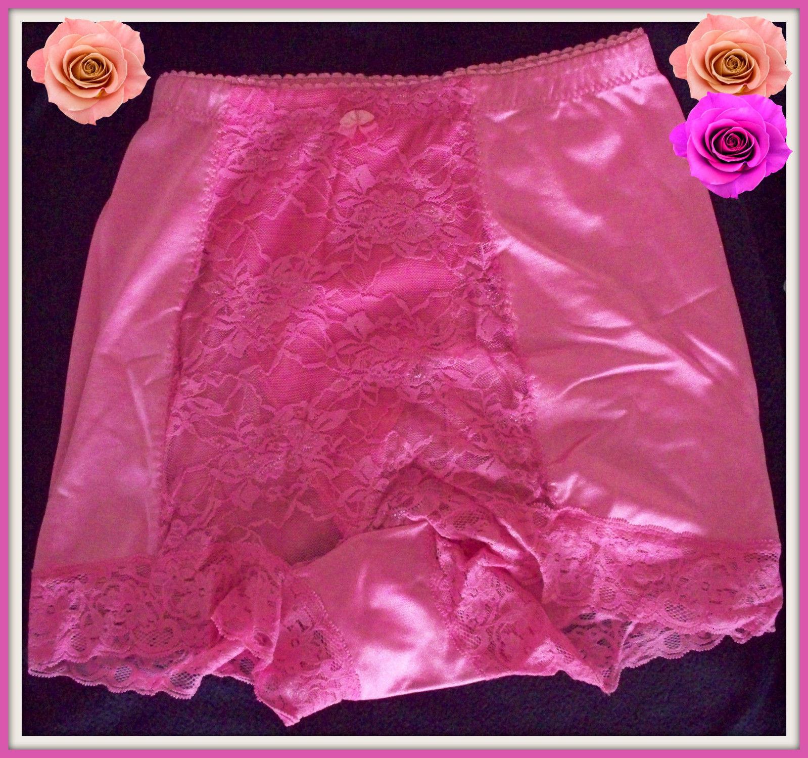 M Medium RHONDA SHEAR ROSE PINK Shabbie Chic LACE Control Brief PANTIE Boyshort  - $9.99