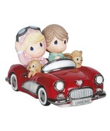 Precious Moments The Honeymoon Never Ends Couple in Red Convertible Car 142008 - $118.79