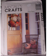 Pattern 2332 Scarecrow Door Decoration and Cloth Pumpkins for Fall - $5.69