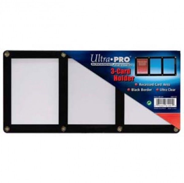 3 (THREE) TRADING CARD BLACK FRAME SCREWDOWN ULTRA CLEAR HOLDER by ULTRA PRO