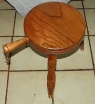 Elm 3 Leg Milking Stool / Footstool  (BM) - $149.00