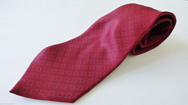 ALFANI made in Italy Silk Necktie Tie Diamong pattern Burdundy red color... - $28.71