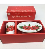 Christmas Soap Dish & Tumbler from Japan -See pictures - $12.19
