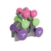 New Womens Dumbbell Set Exercise Weight Loss Trainer Workout Lifts Healt... - $56.63