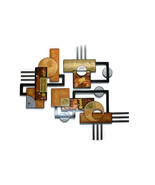 HUGE Textured Geometric Abstract Wall Sculpture, Wall decor,Wall hanging... - $599.99