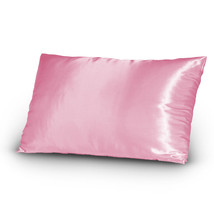 Pair of Satin Lingerie Pillowcases King Size Pink New - $9.99