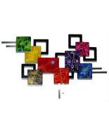 Parade of Color Abstract wood and Metal wall sculpture, Unique Contempor... - $399.99