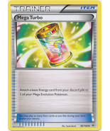 Mega Turbo 86/108 Uncommon Trainer Roaring Skies Pokemon Card - $0.49