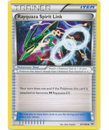 Rayquaza Spirit Link 87/108 Uncommon Trainer Roaring Skies Pokemon Card - $0.49