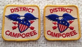 Set of 2 Vintage District Camporee Eagle Boy Scouts of America Patches - $14.99