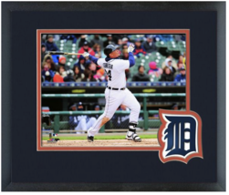 Miguel Cabrera  2015 Detroit Tigers -11 x 14 Team Logo Matted/Framed Photo - $43.55