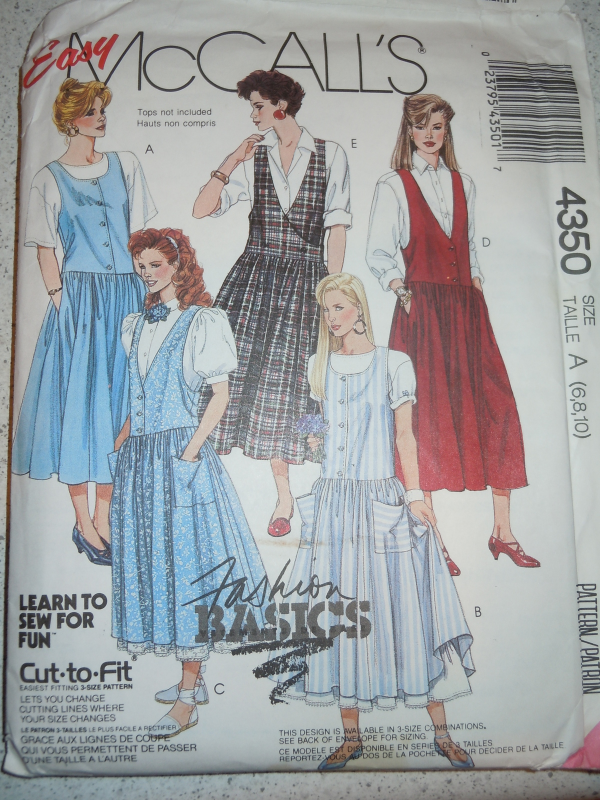 Easy McCall's Select A Size Taille Misses 6-10  Jumper #4350 New - $4.99