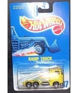 Hot Wheels Diecast YELLOW RAMP TRUCK NEW! 1991 #187 - $6.96