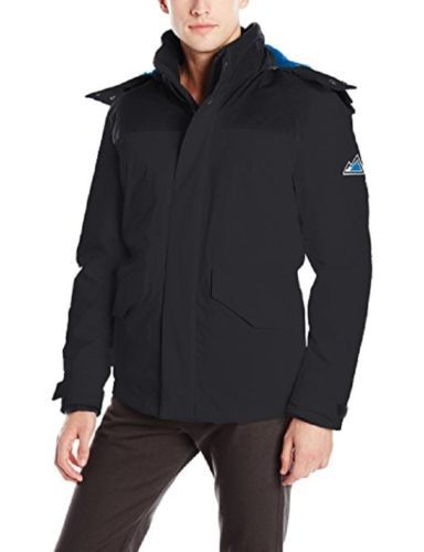 VRY WRM Men's Free Ride Open Bottom Nordic Stretch Jacket Coat Removable Hood