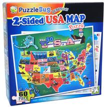 PuzzleBug 2 -Sided USA Map Learning Puzzle - $9.99