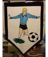Soccer Player / Sports Large Decorative Flag - $15.00