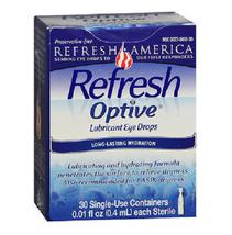 REFRESH OPTIVE Lubricating & Hydrating Eye Drops 30 Single-Uses ~ 9/2019 - $8.70
