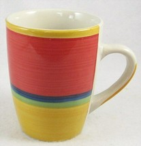 Royal Norfolk Coffee Mug, Mambo, 12 oz., Red, Blue, Green, Yellow - $5.99