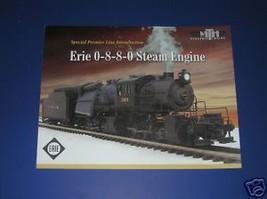 MTH 2003 ERIE 0-8-8-0 STEAM ENGINE BROCHURE - $3.50
