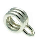 Sterling 925 Silver Charm Dangle Carrier Hanger Pendant For Bracelet or ... - $13.61