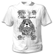 Cocker Spaniel - New Cotton White Tshirt - $22.92