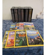 National Geographic Traveler Magazine Lot Of  40+ With Storage Cases - $98.10